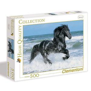 PUZZLE Clementoni Black Horse Puzzle 500 pcs