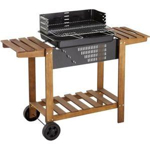 BARBECUE Barbecue à charbon Etretat - Bois et acier époxy
