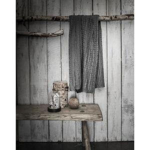 COUVERTURE - PLAID TODAY Plaid tricot Chalet - 125 x 150 cm - Gris fo