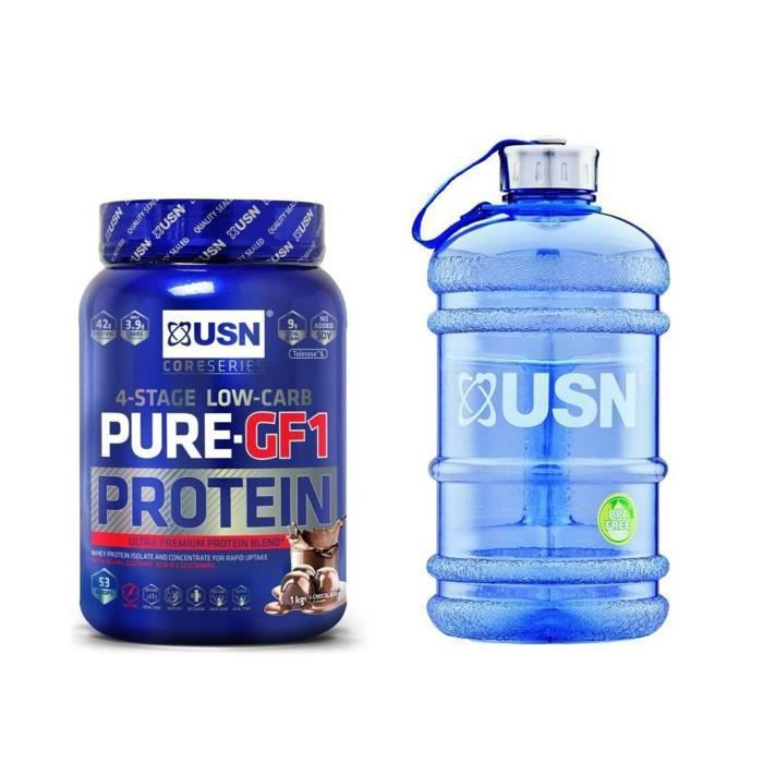 USN Pure Protein IGF-1 Chocolat 1 kg + 1 Water Jug 2.2l. OFFERT