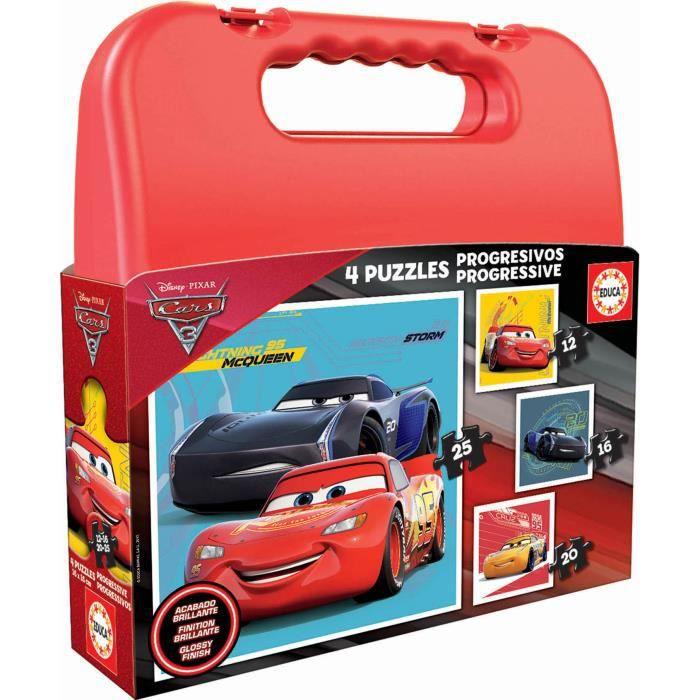 CARS Malette Puzzles Progressifs Cars 3 - Garçon - A partir de 3 ans - Livré à l'unitéPUZZLE