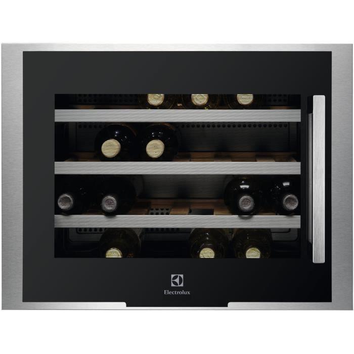 Service-24 bouteilles-Encastrable-Froid brassé-A+-L 59,4 x H 45,5 cm-Commandes ElectroniquesCAVE A VIN