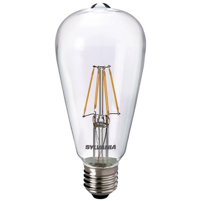 SYLVANIA Ampoule LED à filament Toledo RT ST64 E27 4W équivalence 40W