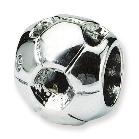 Argent Sterling réflexions SimStars football Charm perle