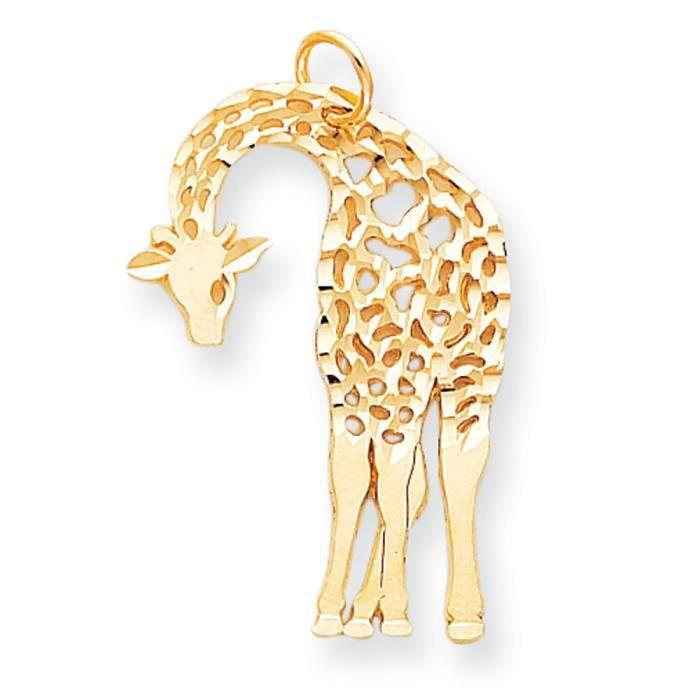 10 k-Breloque girafe supérieure Doré Grade que or 9 carats