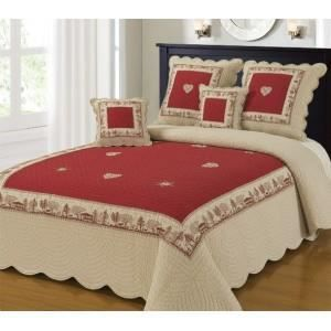 couvre lit boutis 230x250 2 taies 63x63 mod le achat. Black Bedroom Furniture Sets. Home Design Ideas