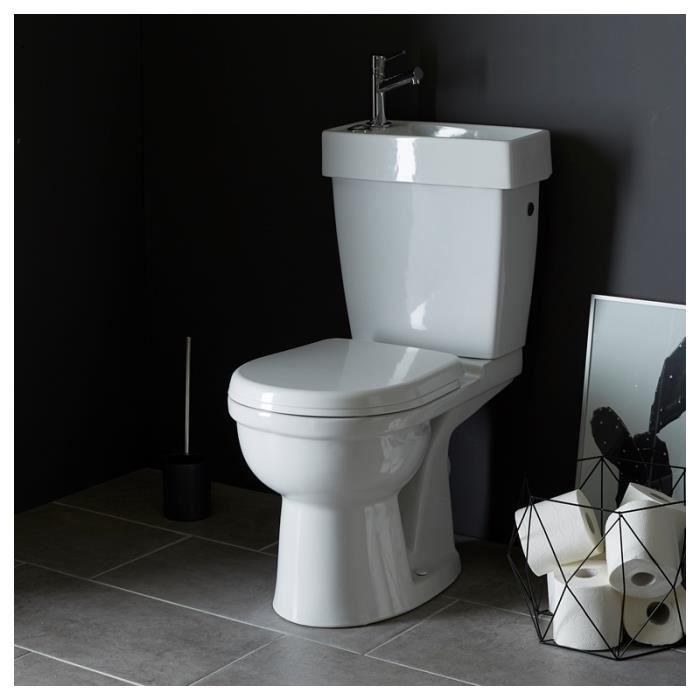 pack wc gain de place avec lave mains int gr sh achat vente wc toilettes 214005 pack wc. Black Bedroom Furniture Sets. Home Design Ideas