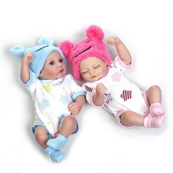 122b306aafecf 27cm doux plein silicone poupée nouveau-né double bébé fille et bébé garçon  meilleur enfant