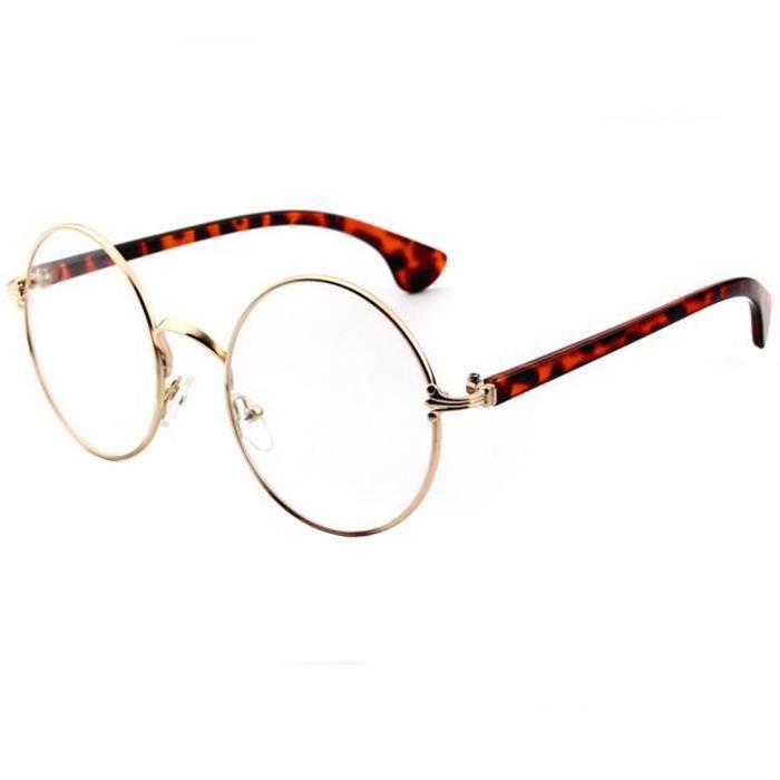 ff7f58528d61f JoyliveCy® lunettes rondes claires montures optiques   Léopard ...