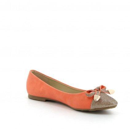 5108e790019 Chaussure femme ballerines LYNX Corail - Achat   Vente chaussure ...