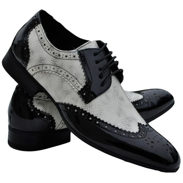9b2d2fce44d55c Chaussures homme noires et blanc... Noir Noir - Achat / Vente ...