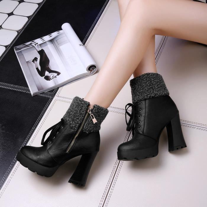 martin boots-Pur Heel Couleurpais de femmes a...