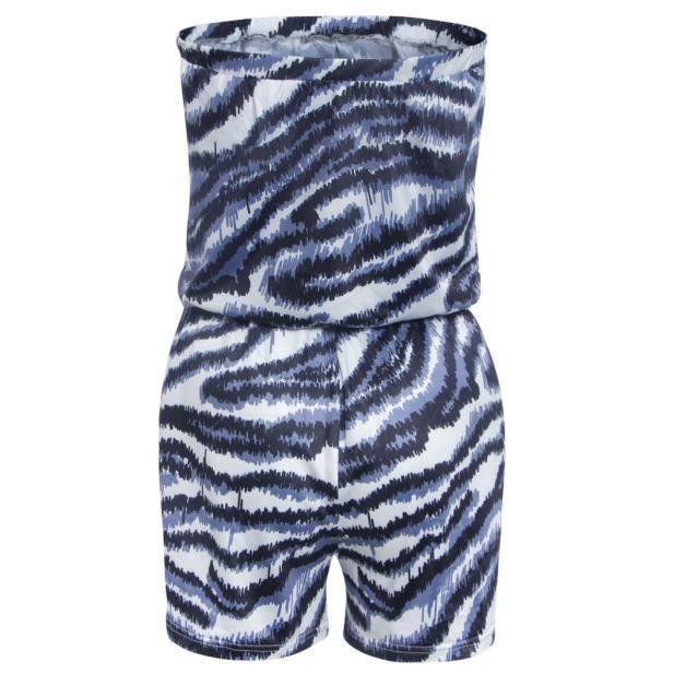 Rw6385 Barboteuse Party Femmes Summer Combishort Léopard Combinaison Pantalon Bodycon IwPYP8xU