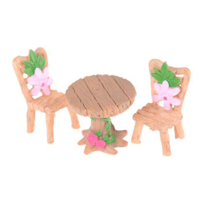 Kit de Jardin Féerique, Chaises de Table Miniatures Maison de Poupée  Bricolage Ornement de Jardin Féerique