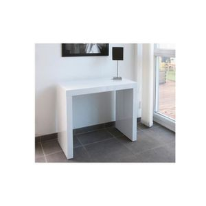 Table console extensible laque blanc achat vente pas cher - Console blanc laque pas cher ...