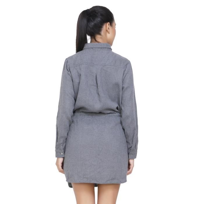 Womens Solid Shirt Dress ForCII5Q Taille-40