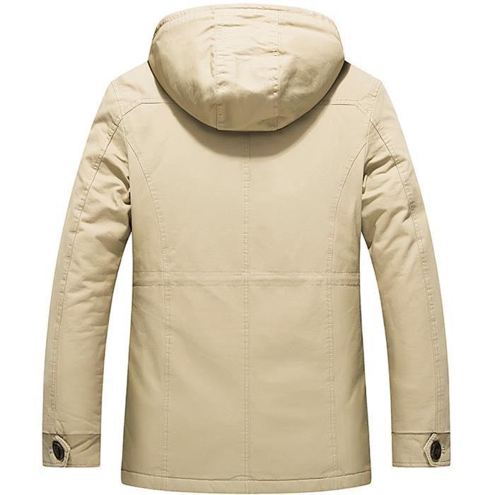 Lavage Hommes Cachemire Manteau Automne Moyenne Et Kaki Hiver Coton Longueur Épaississants q8xtgpwW