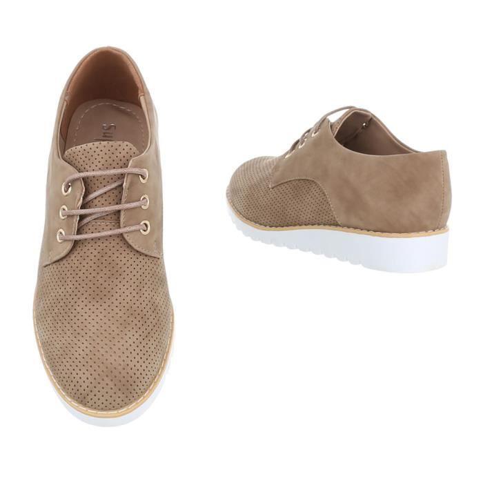 Chaussures femme flâneurs laceter marron clair 37 Chaussures femme flâneurs  laceter marron clair 37