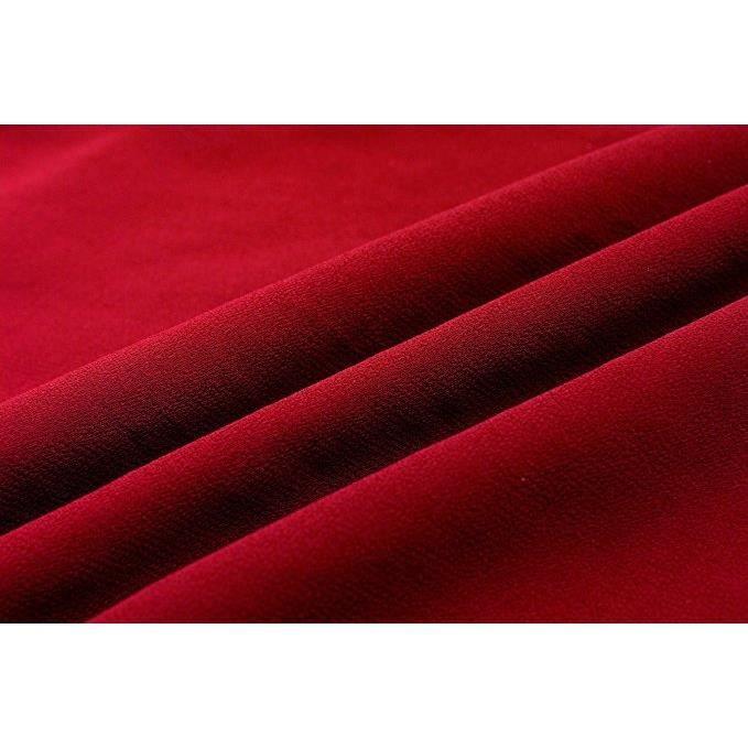 Sans manches en mousseline de soie robe de bal Casual,noir rouge,XL