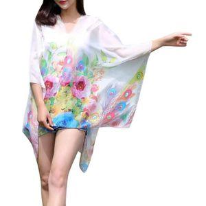 ECHARPE - FOULARD Femmes en mousseline de soie crème solaire haute q ... bfcd636f287