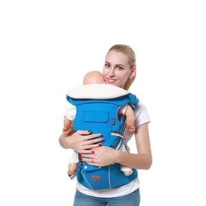 4caf30e2764 3-en-1 Porte-bébé Ventral-Dorsal Ergonomique Tissu Respirant pour Porter  Bébé Multifonctionnel avec Bavoir pour Bébé -blue