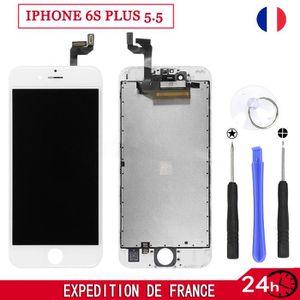 PIÈCE TÉLÉPHONE BLANC ECRAN LCD POUR IPHONE 6S PLUS 5.5 SUR CHASSI