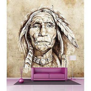 Papier peint géant décoration murale Indien réf 4528