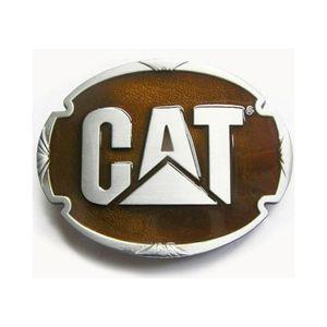 CEINTURE ET BOUCLE boucle de ceinture CAT jaune ovale homme femme cat 6d82ca06ef3