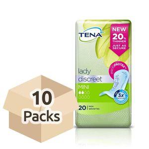 FUITES URINAIRES Tena Lady discret Mini–Lot de 10paquets de 20(