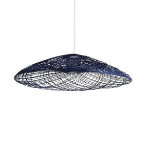 LUSTRE ET SUSPENSION SATELISE-Suspension Rotin Ø70cm Bleu Forestier | d