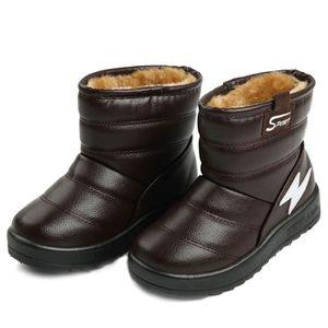 5b3ee5cac93fe D hiver Bottes Enfants Bébé Léger Comfortable SHT-XZ103Marron26 Marron  Marron01 - Achat   Vente bottine - Cdiscount