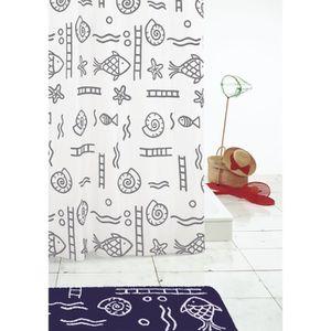 RIDEAU DE DOUCHE RIDDER Rideaux de douche textile - Neptun