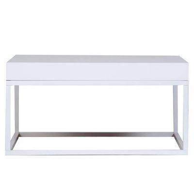 Table Basse Pieds En Métal Blanc Mat L75cm Petra Achat Vente