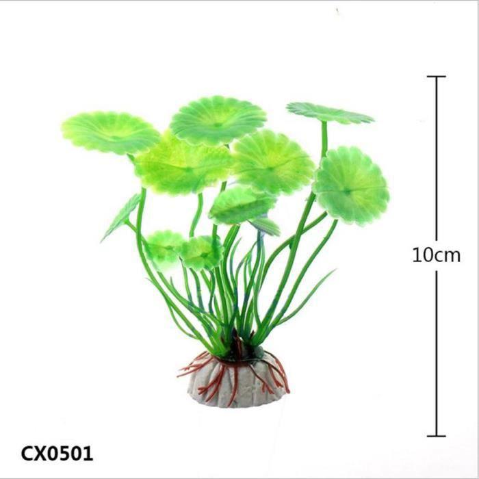 10pcs Aquarium Fish Tank Décoration En Plastique Vert Herbe Plantes Eau Hexqa308