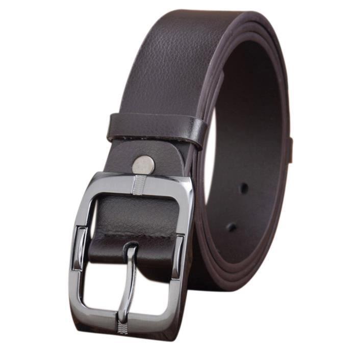 050e9a19c172 Hommes Casual ceinture cuir boucle automatique sangle taille  courroie-CFF61208403CO 1001