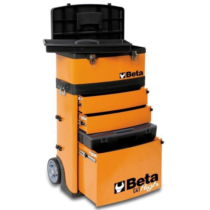 p72 beta tools boite a outil roulante c41h/o orange 041000002