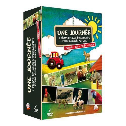 DVD DESSIN ANIMÉ Une journée... au zoo, en forêt, au ranch, à la fe