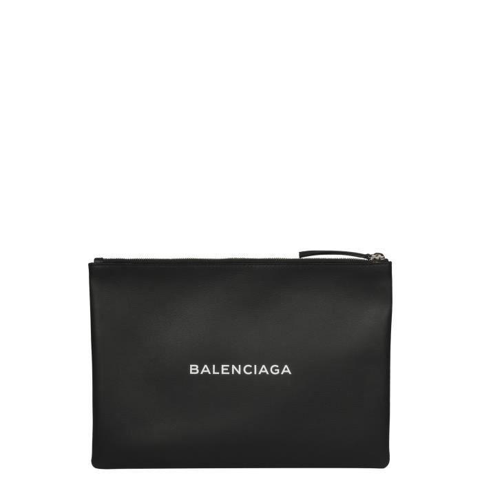 Achat Cuir Noir 485110dlq5n1060 Pochette Balenciaga Homme Vente kZiXuwOTP