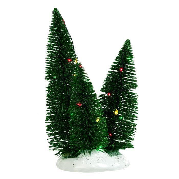 SAPIN - ARBRE DE NOËL Décor de Noël 3 Sapins éclairage clignotant multic