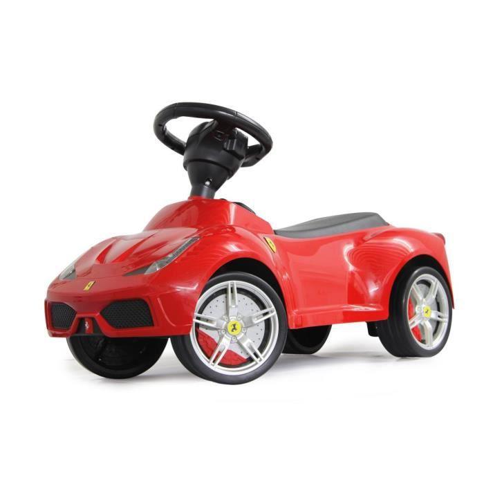 porteur trotteur pousseur petite voiture b b ferrari 458 rouge si ge cuir klaxon achat. Black Bedroom Furniture Sets. Home Design Ideas