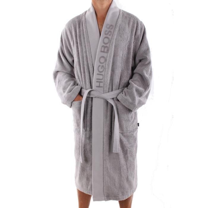 peignoir hugo boss gris achat vente peignoir soldes d s le 10 janvier cdiscount. Black Bedroom Furniture Sets. Home Design Ideas