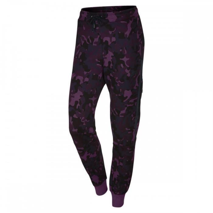 9ce7d74f03 Pantalon de survêtement Nike Tech Fleece Camo - 695344-563 Violet ...