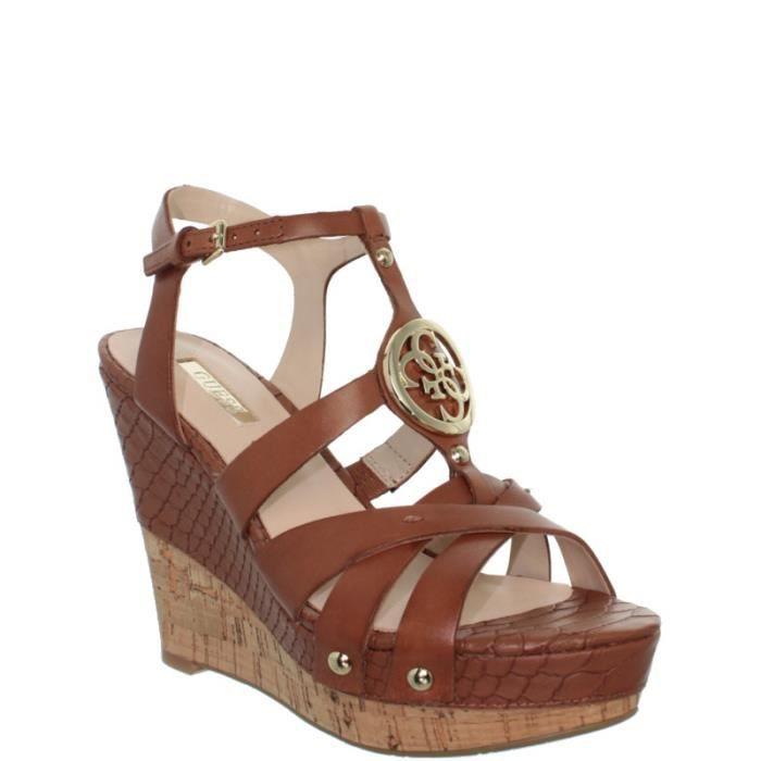 Sandales à talons compensés Guess ref_guess38857-tan pFcnT