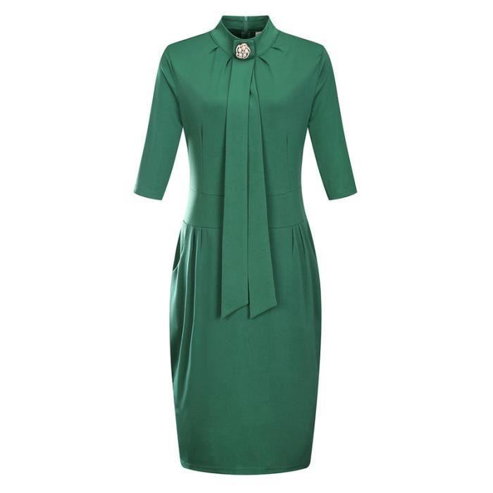 206c9d057c8 SIMPLE FLAVOR Robe Femme Manchon Moyen Était Mince Mode ...