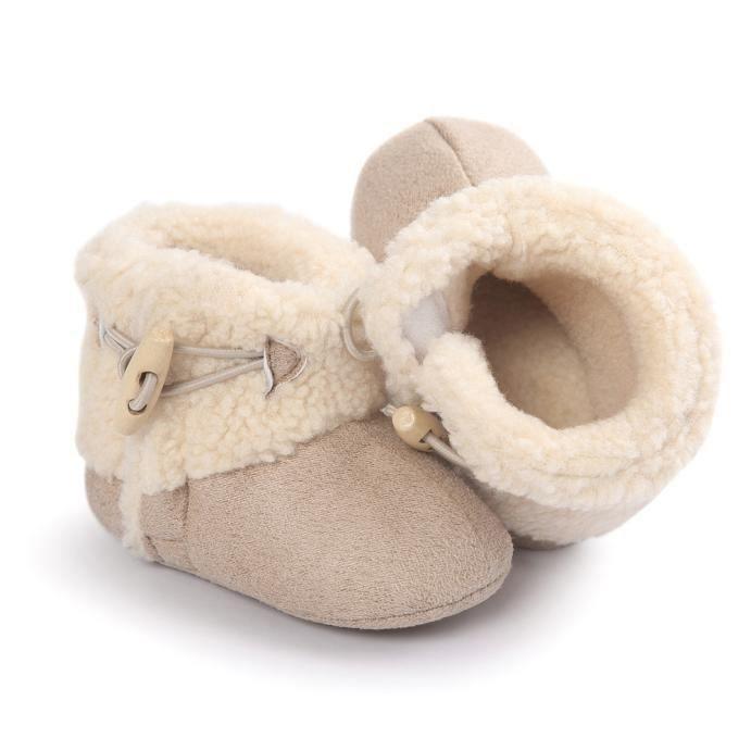 Bébé garder chaud semelle molle bottes de neige Soft berceau chaussures tout-petits vert UOBqnny