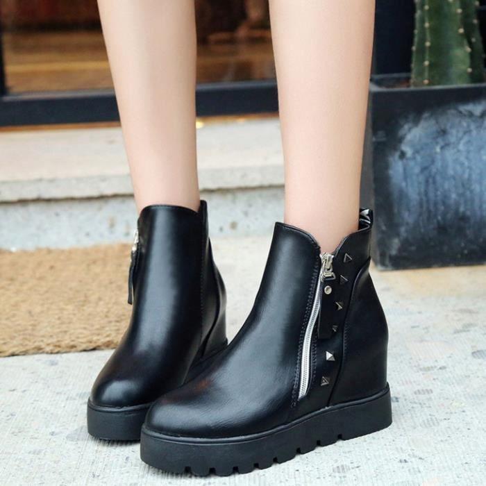 HUIXIN®femmes automne et hiver nouvelle rivet botte chaussures en cuir