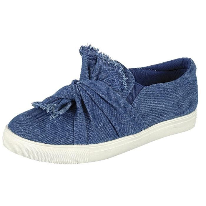 Slip On Ruched Tie Fashion Sneaker OCV76 Taille-39