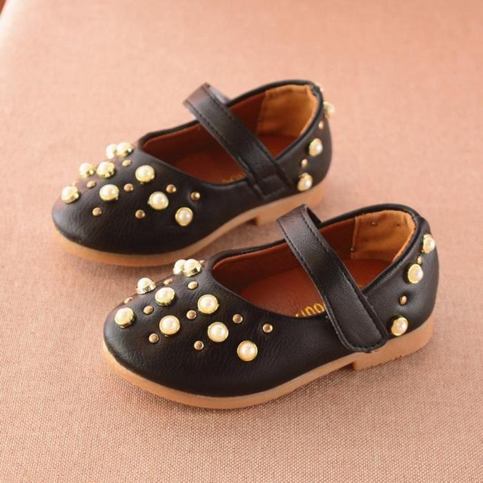 BOTTE Enfant en bas âge Enfants Sandales Mode Rivet Bébé Filles Chaussures de prix@NoirHM