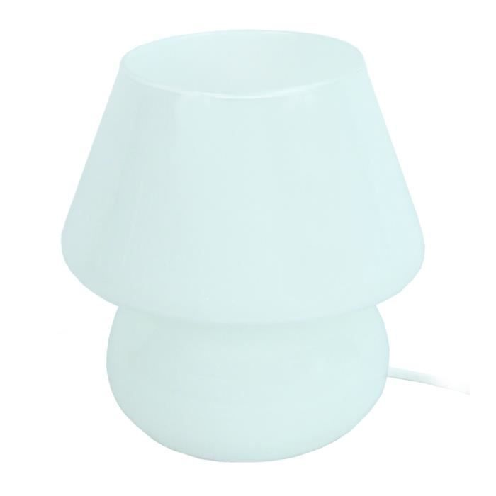 LAMPE A POSER Lampes CHAMPIGNON TOSEL Blanc - Dimensions: 15,5 x
