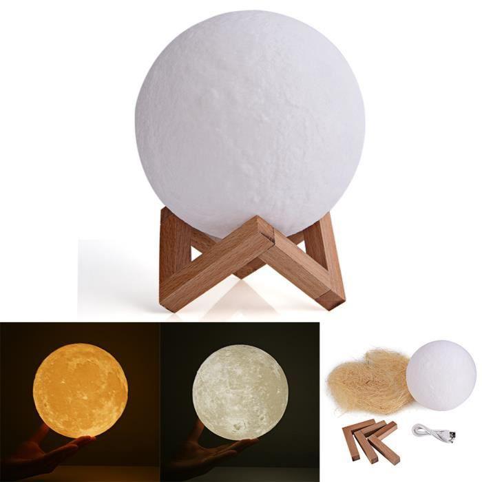 Led De Cadeau 3d Lampe Lune Usb Magique Luna Lumière Nocturne Éclairage D'anniversaire En b76IYgyvf